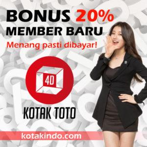 Bonus Member Baru 20% hanya di kotaktoto