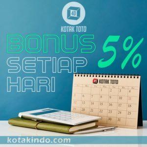 Bonus 5% setiap hari hanya di kotaktoto
